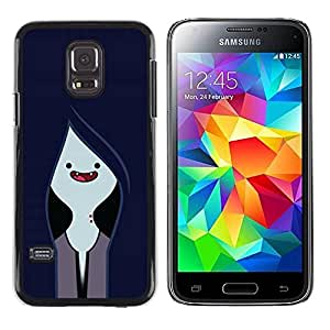 Plastic Shell Protective Case Cover || Samsung Galaxy S5 Mini, SM-G800, NOT S5 REGULAR! || Vampire Navy Blue Face @XPTECH