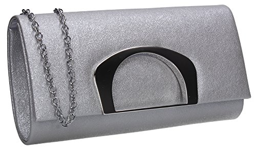 Celebrity Night Marcie Clutch Wedding Party Purse Silver Evening Ladies Bag Out Prom SWANKYSWANS wYqfgIw