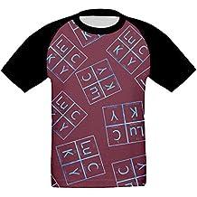 S2s Shirts Chemistry Teacher Periodic Table Girl's Short-Sleeve Shirt Baseball Raglan Tee T-Shirts