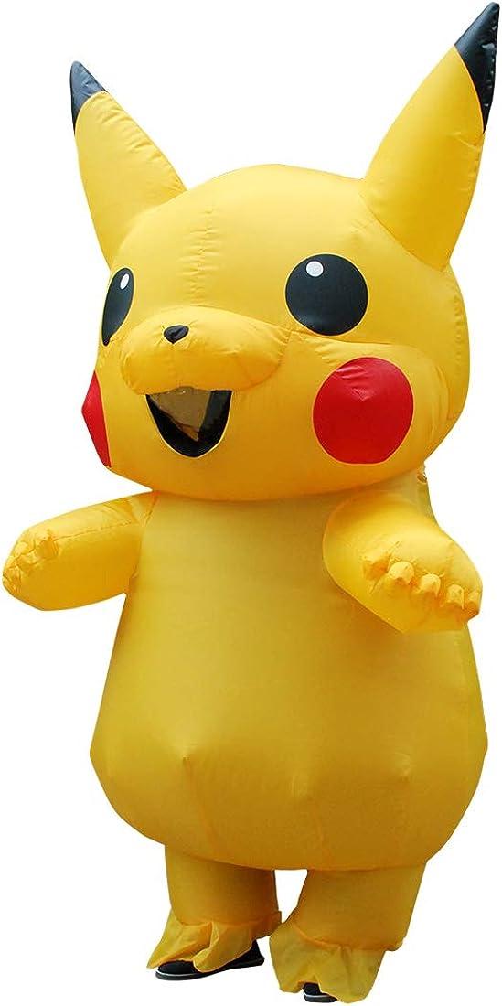 Zi Xi & Zi Qi Adult Yellow Sparky Inflatable Costume Cosplay Halloween