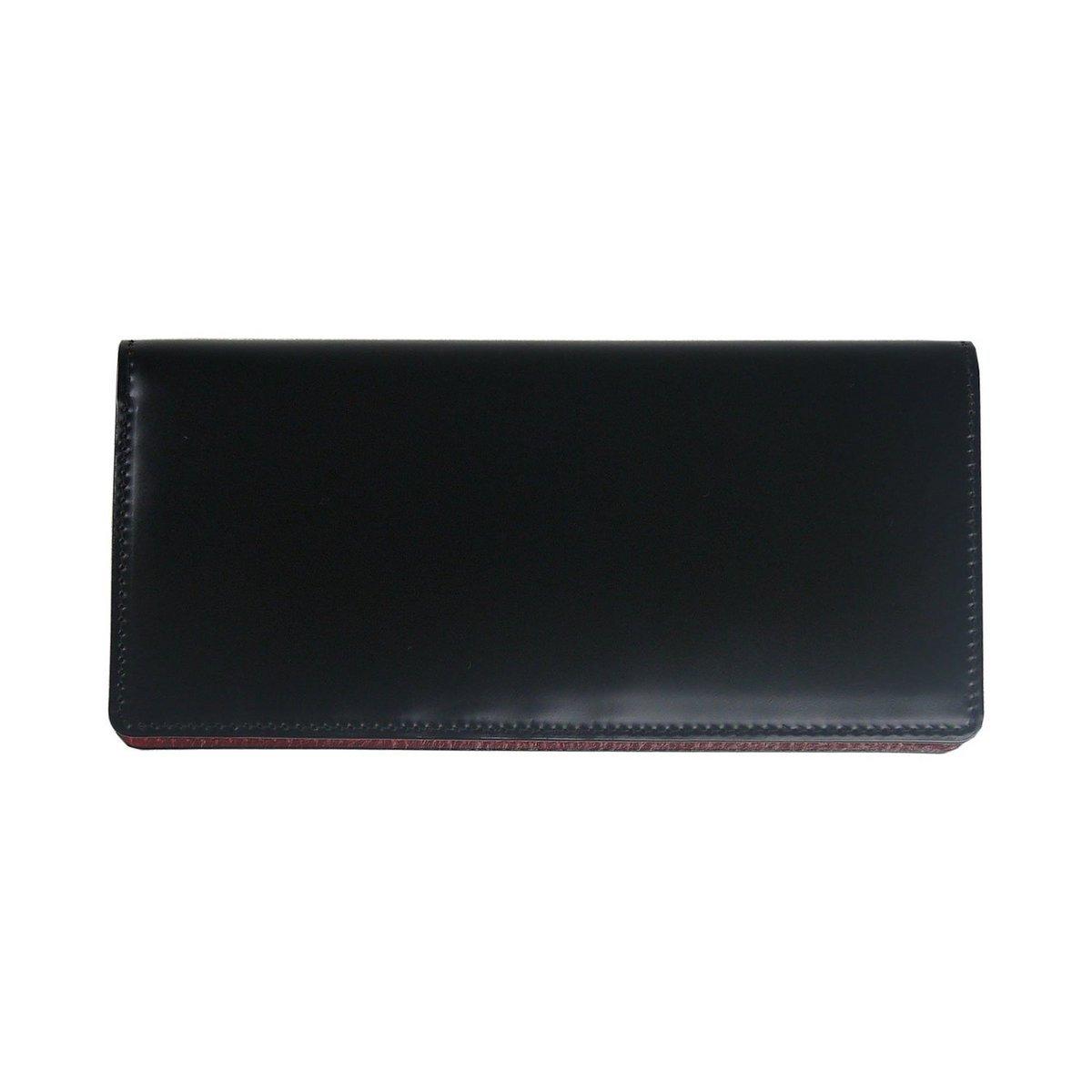 (コードバン)CORDOVAN 日本製 長財布 小銭入れなし/ly1000 B01AL93CLS ブラック ブラック