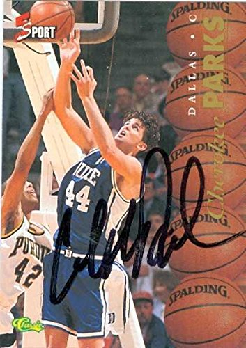 - Cherokee Parks autographed basketball card (Duke Blue Devils) 1995 Classic #11 NCAA Rookie - Unsigned Basketball Cards