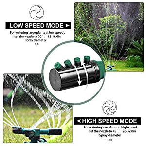 Garden Sprinkler, Lawn Sprinkler Automatic Sprinklers For yard 360 Rotating Sprinklers For Lawns Irrigation System Oscillating Rotary High Impact Sprinkler System With Leak Free Design Durable