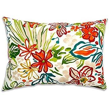 stratford home 12x20 indoor outdoor decorative lumbar pillows set of 2 valeda breeze - Decorative Lumbar Pillows