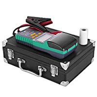 LOVSHARE Battery Tester 12V Battery Analyzer with Printer 30AH-200AH Automotive Battery Tester Digital Battery and System Health Tester for Car / Truck Lead-acid Starting Battery