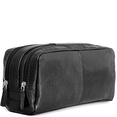 Jack Georges Tuscana Classico Toiletry Bag VT220 (BLACK) by Jack Georges