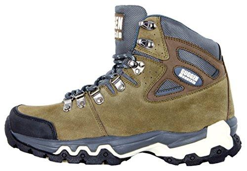 Zapatillas de senderismo Zapatos para caminar Botas de montaÐa montana Hombre GUGGEN MOUNTAIN M010 Marron