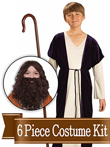 (BirthdayExpress Jesus Shepherd Biblical Nativity Child Costume Kit - Small)