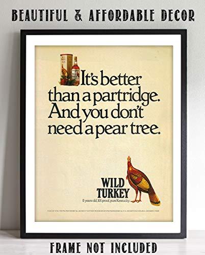 Wild Turkey Liquor - Wild Turkey Bourbon Vintage Sign-