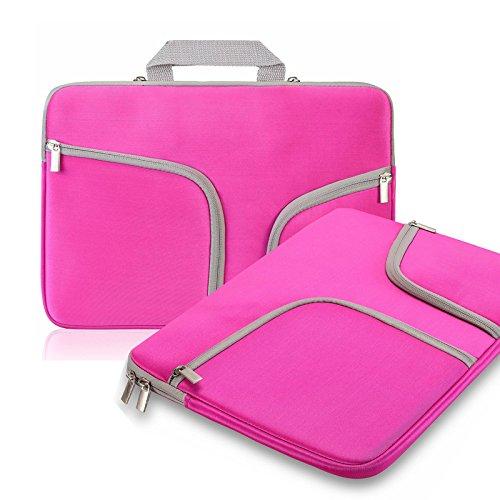 Koala group*MacBook 15.4 Zoll Notebook-Hülle, wasserdicht / Antifouling-Neopren, doppelte Tasche Außenfach Reißverschlussfach Sleeve ----- Rosy red