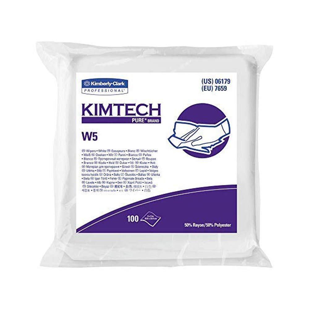 Amazon.com: Kimberly Clark KIMTECH Pure 06173 W5 Dry Wipers ...