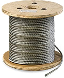 Galvanized Steel Aircraft Cable Wire 7x19 1/4\