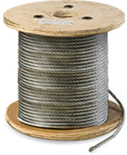 Galvanized Steel Aircraft Cable Wire 7x19 Strand Core, 5/16'' x 250' by Comfitwear