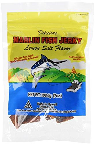 Hawaiian Marlin Fish Jerky Lemon Salt 7 Oz by Hawaii Snacks