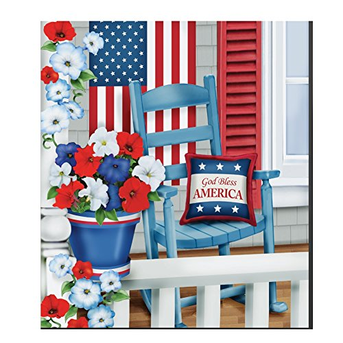 Patriotic Porch Magnetic Dishwasher Multi Colored