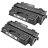 Speedy Inks - 2 Pack Compatible Replacement for HP 80X CF280X HY Black Laser Toner Cartridge for use in LaserJet Pro 400 M401dn, M401dne, M401dw, M401n, M425dn