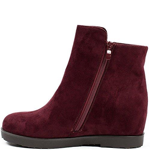 Ideal Shoes, Damen Stiefel & Stiefeletten , Rot - rot - Größe: 39
