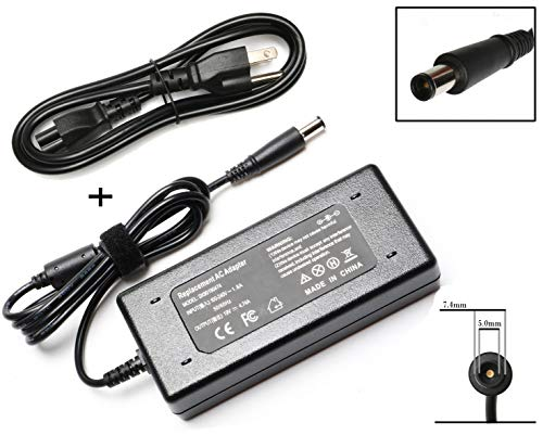 (90W AC Adapter Power Supply Cord Laptop Charger for HP Pavilion Dv4 Dv6 Dv7 G50 G60 G60T G61 G62 G72 2000; EliteBook 2540p 2560p 2570p 2730p 2740p CQ40 CQ45 Cq50 Cq57 Cq58 Cq60 Cq61 Cq62)