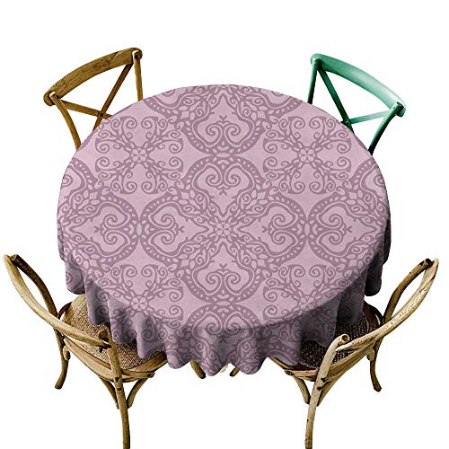 SKDSArts Table Cloth Printed Seamless Damask Wallpaper background2 D36,Round ()