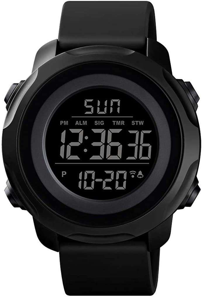Men's Digital Sports Watch Military Electronic Waterproof Wrist Watches for Men with Stopwatch Alarm LED Backlight