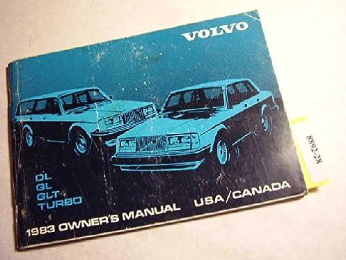 1983 volvo dl gl glt turbo owners manual volvo amazon com books rh amazon com Volvo Owners Manual Online 1996 Volvo 960 Repair Manual