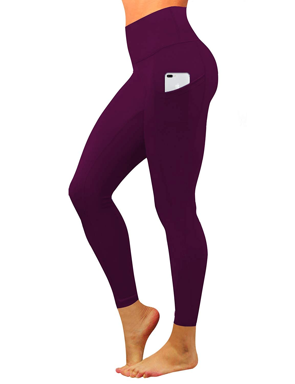 BUBBLELIME 19 22 26 28 Inseam High Compression Yoga Pants Out Pocket Running Pants High Waist UPF30 Long Pants Capris