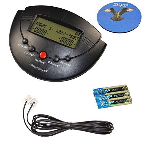 Caller Id Large Display Box - HQRP Caller ID Box Incoming Call Blocker w/ Display for Landline Phone plus HQRP Coaster