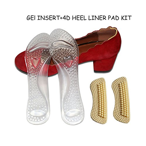 Silicone Gel Insoles for High-Heels Us Size 4 1 Pair - 2