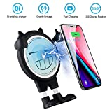 Wireless Car Charger, AYOUYA Qi Fast Wireless Charging Car Mount Air Vent Phone Holder Fast Charge for Samsung Galaxy Note 8 S8 S8 + S7 S7 edge S6 edge + Note Standard Charge for iPhone X 8 8 Plus