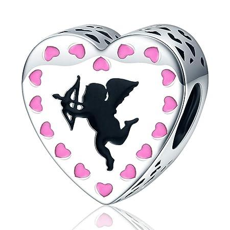 Zxx jewelry Cupids Love Charm Beads Impresionante Rosa 925 ...