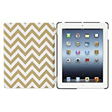Griffin Gold Zig Zag IntelliCase Folio for iPad 2, 3, and 4th Gen - Folio Case with Back Shell and Automatic Wake-up
