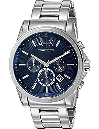 Armani Exchange Men's AX2509 Smart Watch Analog Display Analog Quartz Silver Watch
