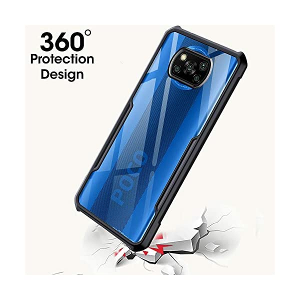 TheGiftKart Back Cover for Poco X3/Poco X3 Pro(TPU;Poly Carbonate/Transparent) 2021 July Compatible with Poco X3 Only Crystal Clear Non Yellowing Transparent Back Shock Proof & Protective Case