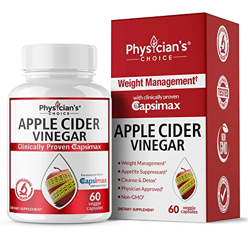 Fat Burners for Women & Men, Thermogenic Fat Burner Pills (Award Winning Capsimax) Organic Apple Cider Vinegar Capsules, Metabolism Booster, Appetite Suppressant, Non-GMO Diet Kit, 60 Count