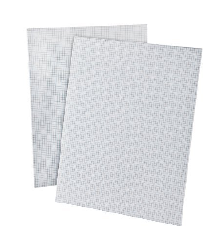Ampad Quadrille Pad with 8 Squares per Inch, Letter Size, White, 50 Sheets per Pad (22-005), 10 Pack by Ampad