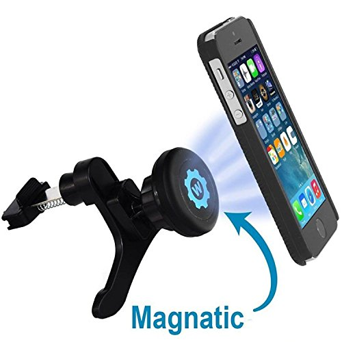 Car-Mount-WizGear-Universal-Air-Vent-Magnetic-Car-Mount-Holder-with-Fast-Swift-Snap-Technology-for-Apple-iPhone-6-6-Plus-iPhone-5S-5C-5-4S-Samsung-Galaxy-S6-S5-S4-S3-HTC-M9-Nexus-5-4