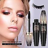 4D Silk Fiber Lash Mascara Waterproof Natural Thick Thickening and Lengthening Mascara, Long Lasting Charming Eye Makeup