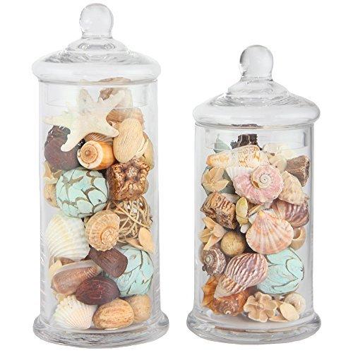 Glass Tall Jar (Apothecary Jar 2 Piece Set, Wedding Candy Buffet)