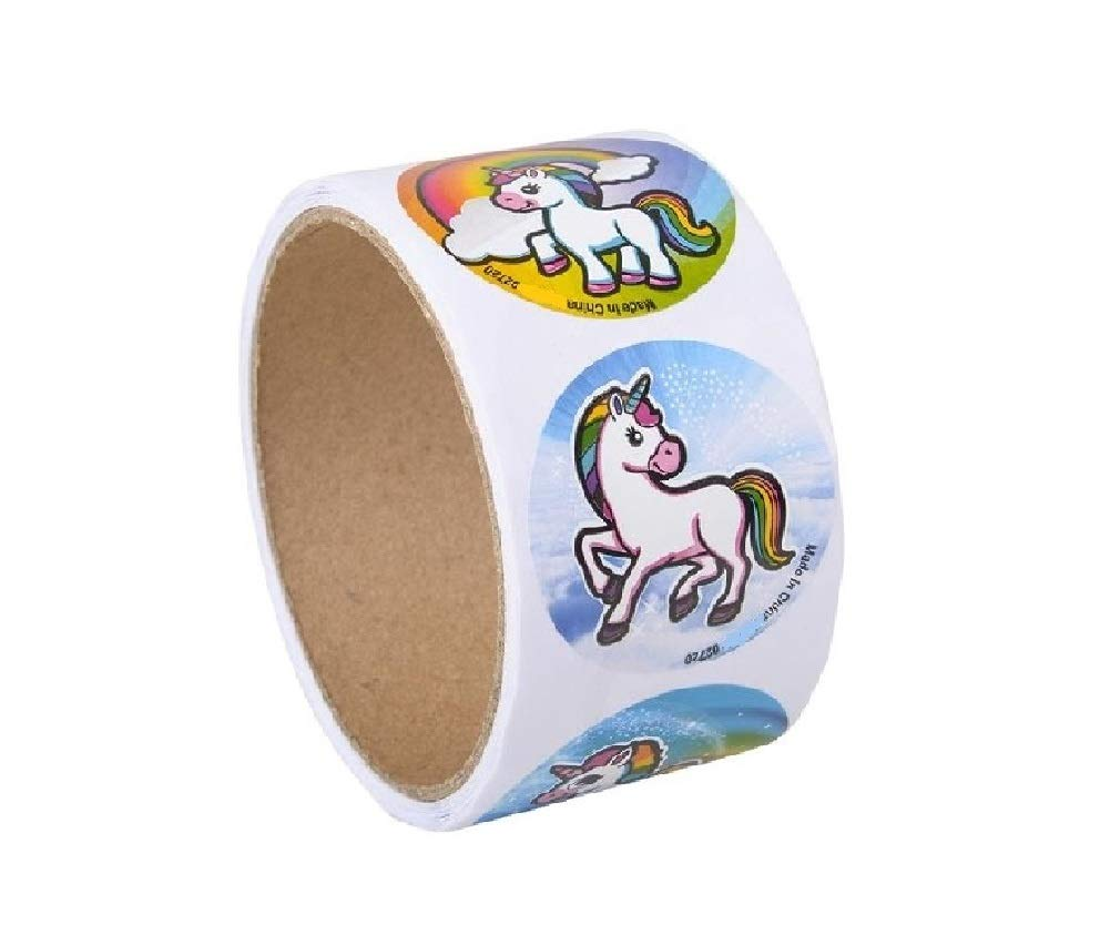 Novelty Treasures Mystical Unicorn Party Set 100 Sticker Roll and 144 Tattoos 5