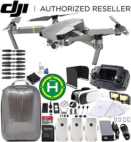 DJI Mavic Pro Platinum Collapsible Quadcopter EVERYTHING YOU NEED Ultimate Bundle by DJI