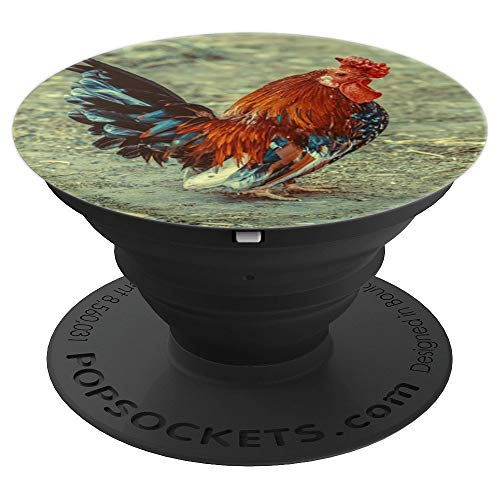 Rooster Red Farm Animals Barnyard Bird Lovers - PopSockets Grip and Stand for Phones and Tablets