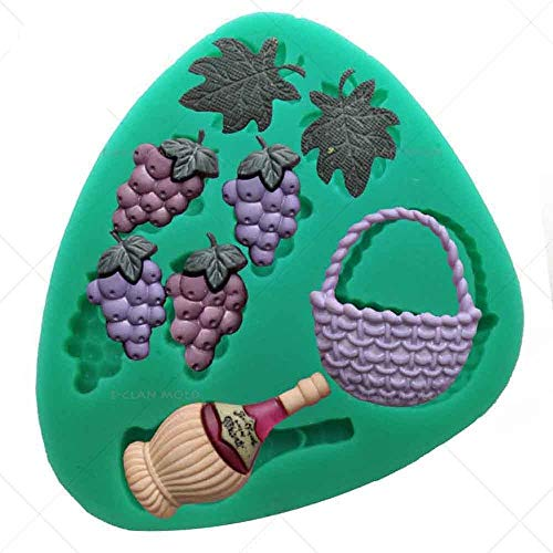 (red wine grape silicone fondant cake molds chocolate mould )