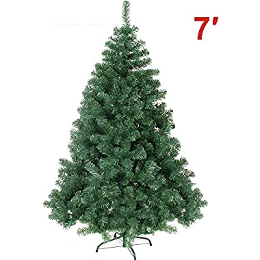 7' GREEN 210CM NEW Classic Pine Christmas Tree Artificial Realistic Natural Branches-Unlit