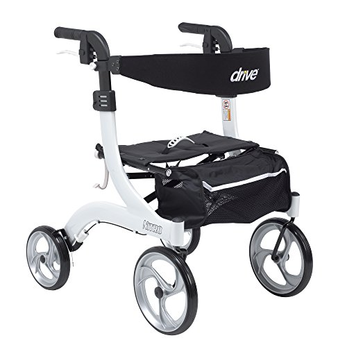 Drive Medical RTL10266WT-H Nitro Euro Style Walker Rollator, Petite, White by Drive Medical
