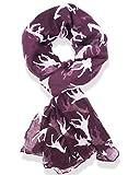 Hanson Giraffe Print Long & Soft Celebrity Style Scarf (Purple)