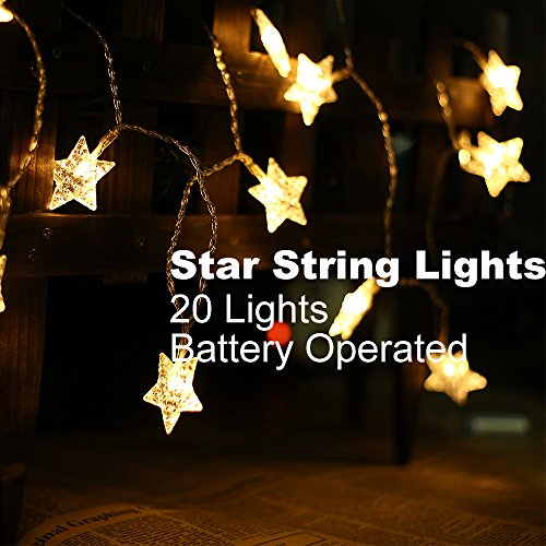 LIDORE Micro 20 LED Little Star string lights. Best ambiance lighting for outdoor and indoor party decoration. 1.Set of 20 LED lights 2.Warm white 3.3AA Battery operated 4. - String Fun Party Lights