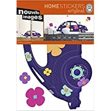 Cars Poster-Sticker Wall-Tattoo - VW Volkswagen Beetle, Lyonel Maillot (28 x 20 inches)