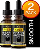 2 PACK PREMIUM BEARD GROWTH OIL. Advanced Beard Leave-in Conditioner Softener and Moisturizer With Vitamin E. Fragrance Free. Made In USA.