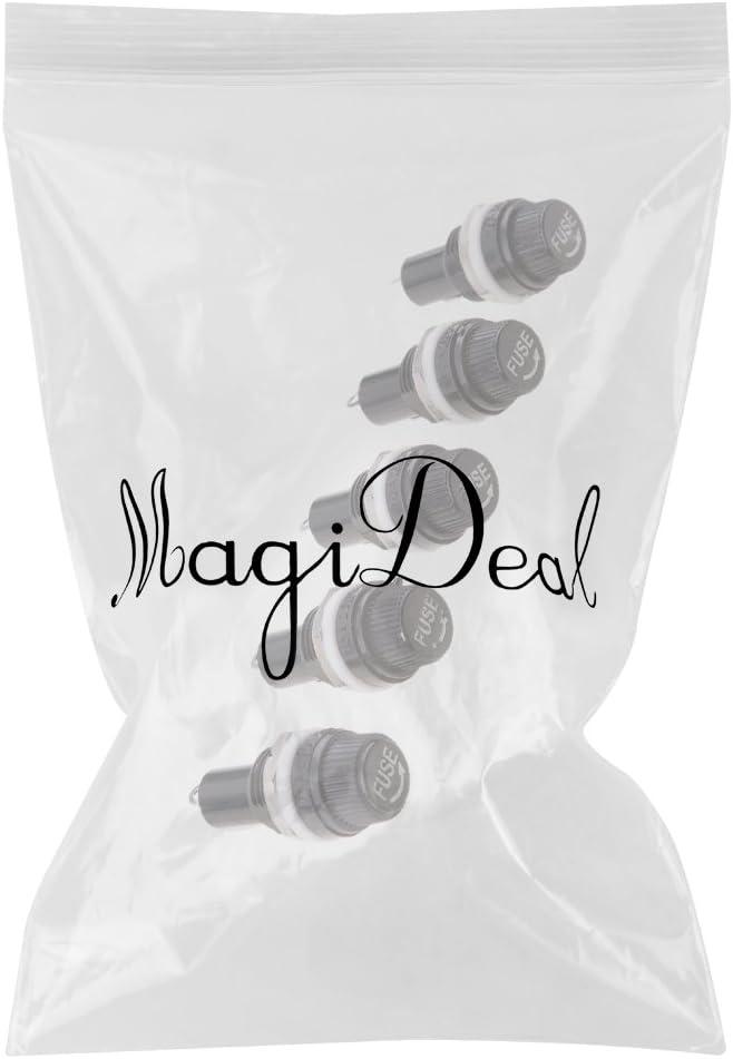 MagiDeal 5x Porte-fusible 5x20 /à Souder Bloc Fusible En Verre Pour Circuit Imprime