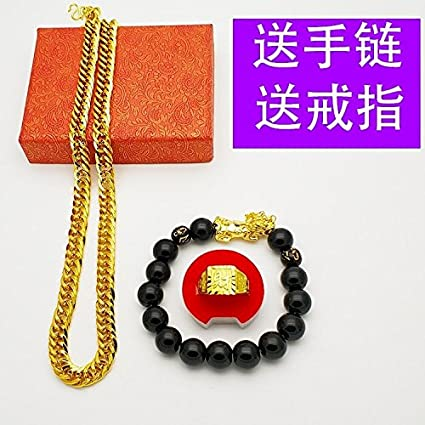 Amazon com: Vietnam alluvial Gold Necklace Pendant Men's 18k Gold